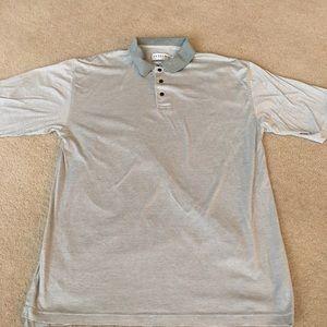 Tehama Clint Gray Stripe Fine Cotton Polo-L